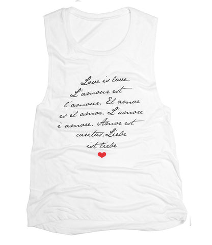 Love is Love - Scoop Muscle (White)