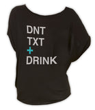 Don't Text - Circle Top (Black)