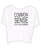 Common Sense - Boxy Tee (White)