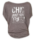 Chic Just Got Real - Circle Top (Grey)