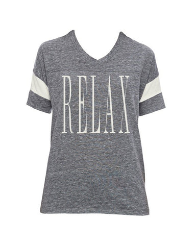 Relax - Powder Puff Tee (Grey & White)
