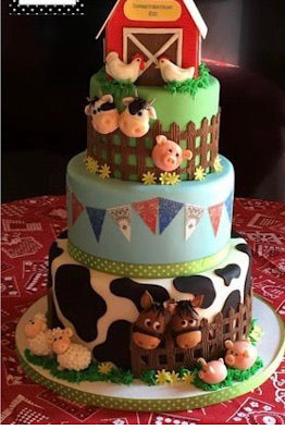 Custom reserved listing for Farm themed sugar toppers