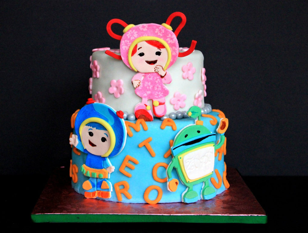 Cool Edible Fondant Team Umizoomi 2D Birthday Cake Toppers Set Of 3 Personalised Birthday Cards Arneslily Jamesorg