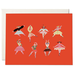 Red Cap Cards - Birthday Dancers