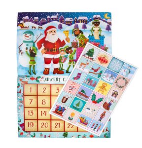 Little Likes Kids™ - Children's Advent Sticker Calendar (Caucasian Santa)