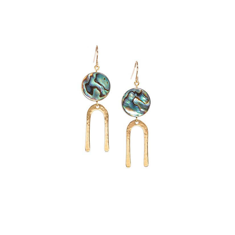 Son of a Sailor - Frances Short Earrings / Mother of Pearl
