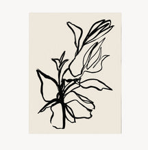 Load image into Gallery viewer, Wilde House Paper - Flora Art Print in Noir