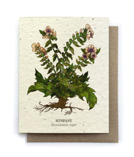 Load image into Gallery viewer, The Bower Studio - Henbane Botanical Greeting Cards - Plantable Seed Paper