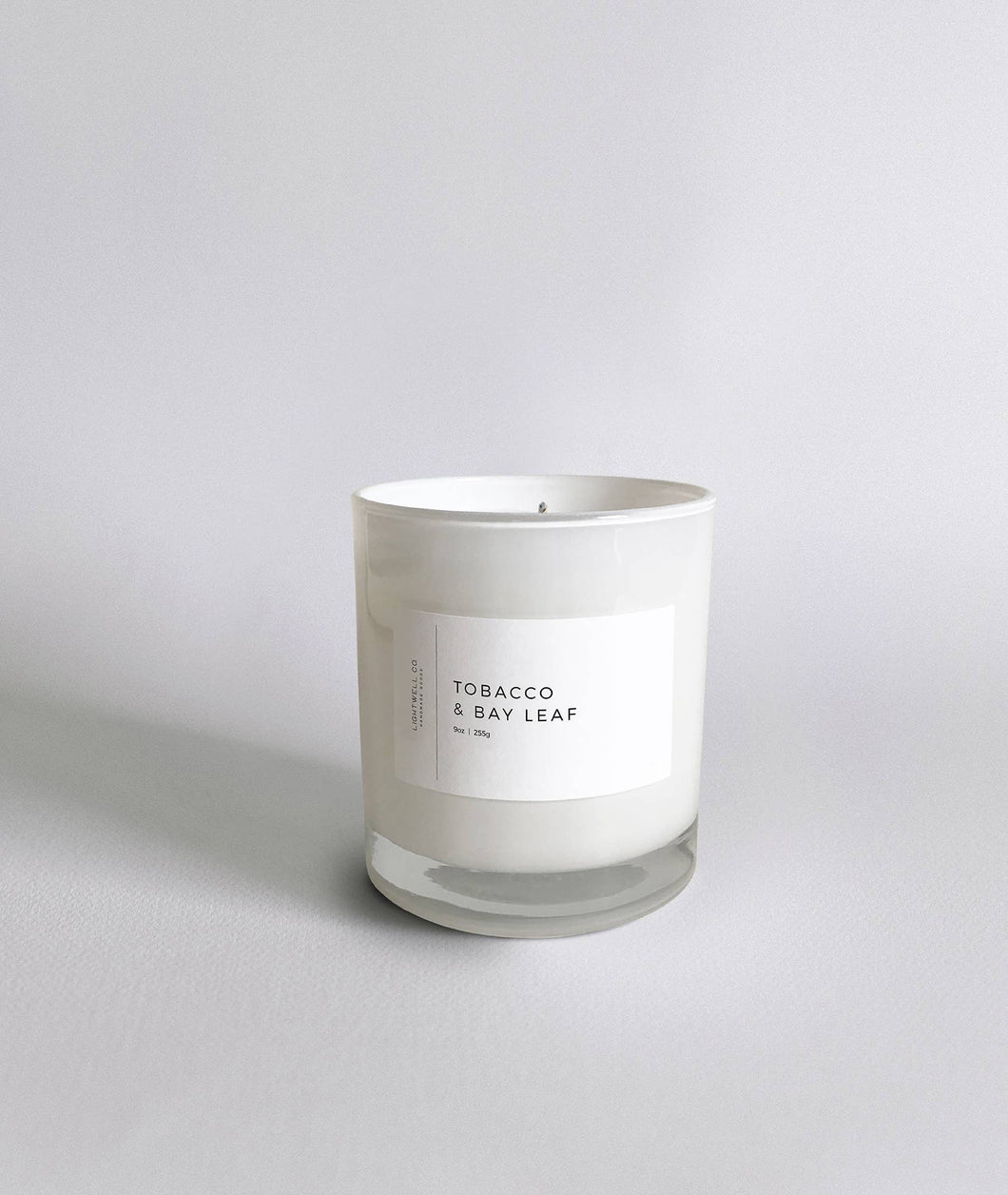 Lightwell Co - Tobacco & Bay Leaf White Tumbler