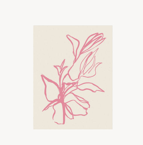 Wilde House Paper - Flora Art Print in Orchid