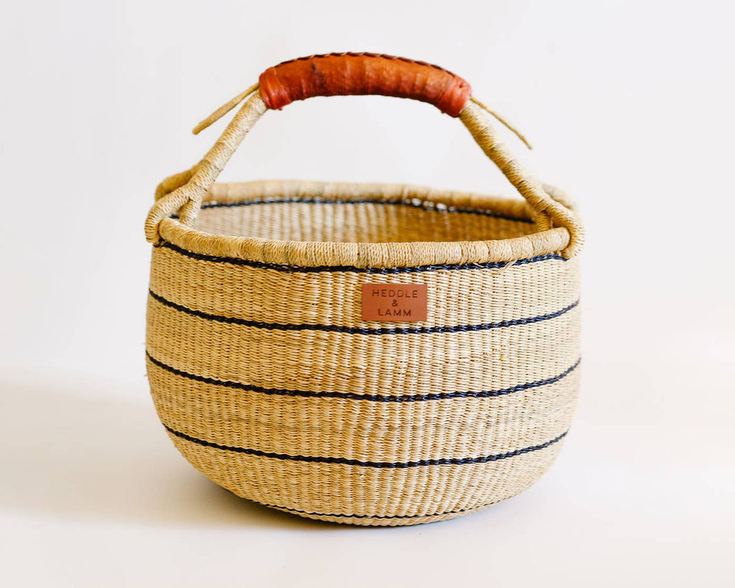 Heddle & Lamm - Babi Bolga Basket - Brown Handle