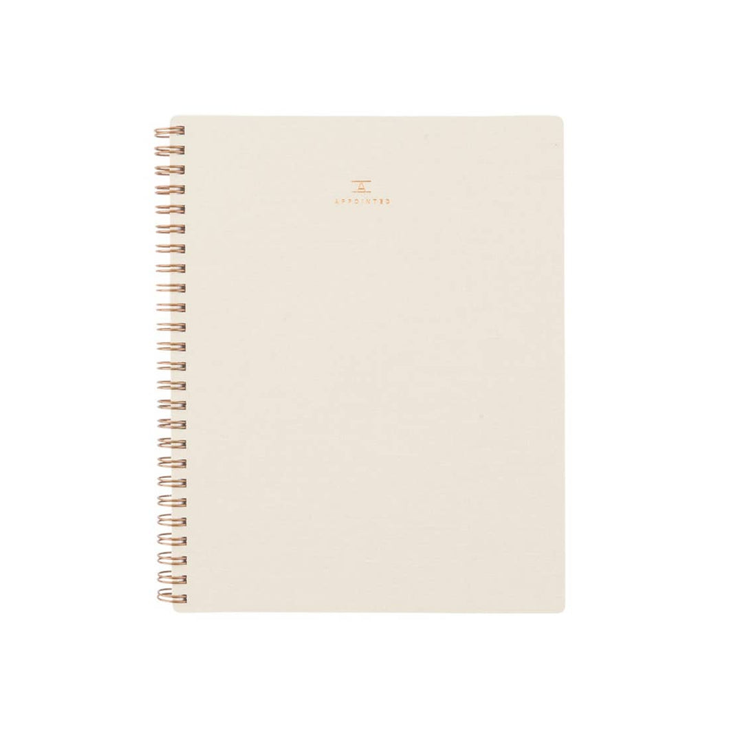 Workbook Lined - Natural Linen