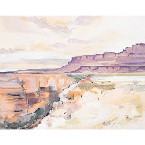 Laurie Anne Art - Marble Canyon Horizontal Canvas Print