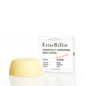Etta + Billie - Grapefruit Cardamom Sea Salt Body Scrub Bar