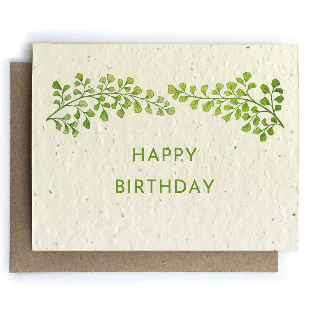 The Bower Studio - Happy Birthday Botanical Cards - Plantable Seed Paper