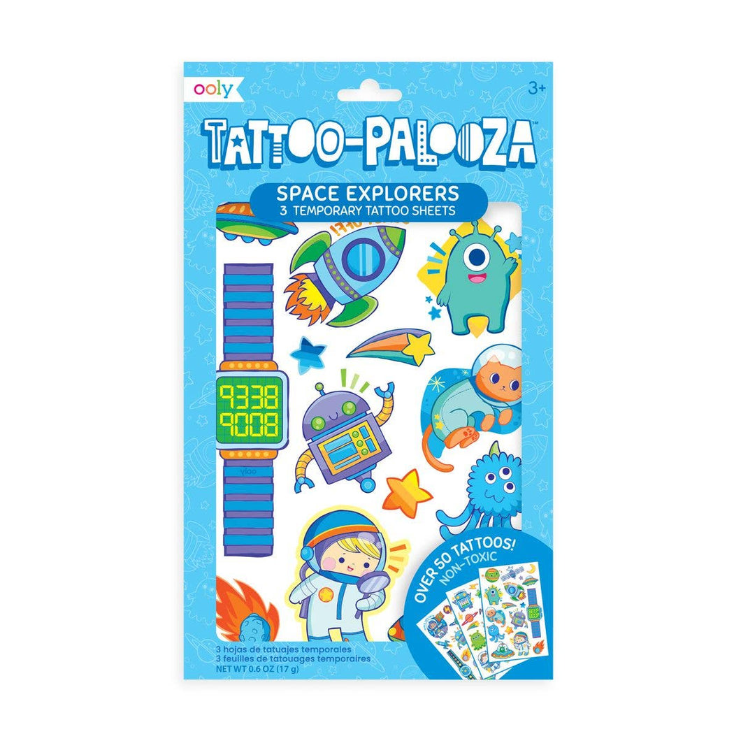 OOLY - Tattoo Palooza Temporary Tattoo: Space Explorer
