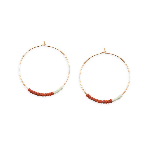 Son of a Sailor - Septima Hoop Earring / Terracotta Pattern