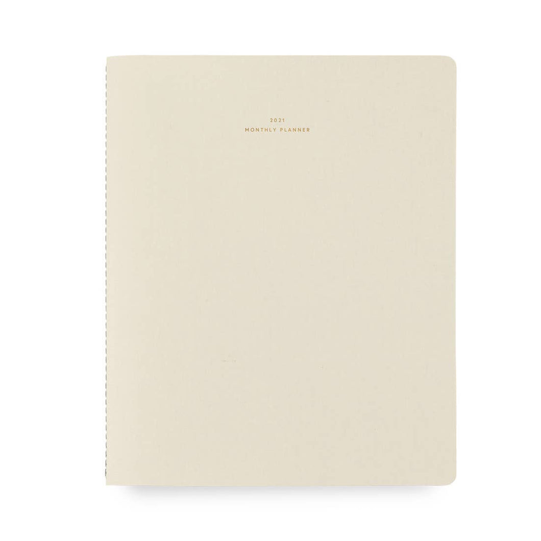 2021 Monthly Planner - Natural Linen