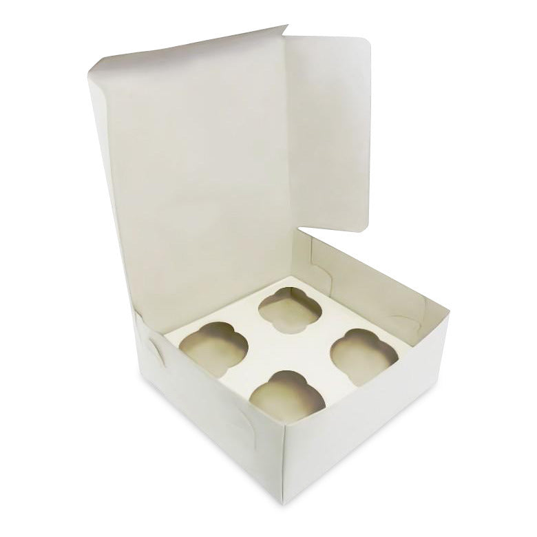 Cupcake Boxes for 4 (15p each)- sold in packs of 250 - cake boxes, cupcake boxes, thecakeboxes