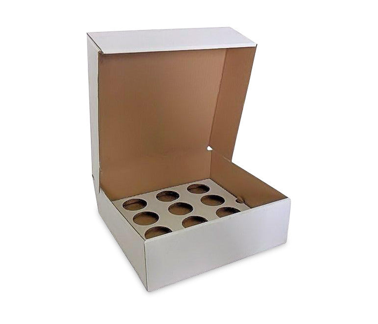 500 Corrugated Cupcake Box for 12 Cupcakes (£0.59p each) - cake boxes, cupcake boxes, thecakeboxes