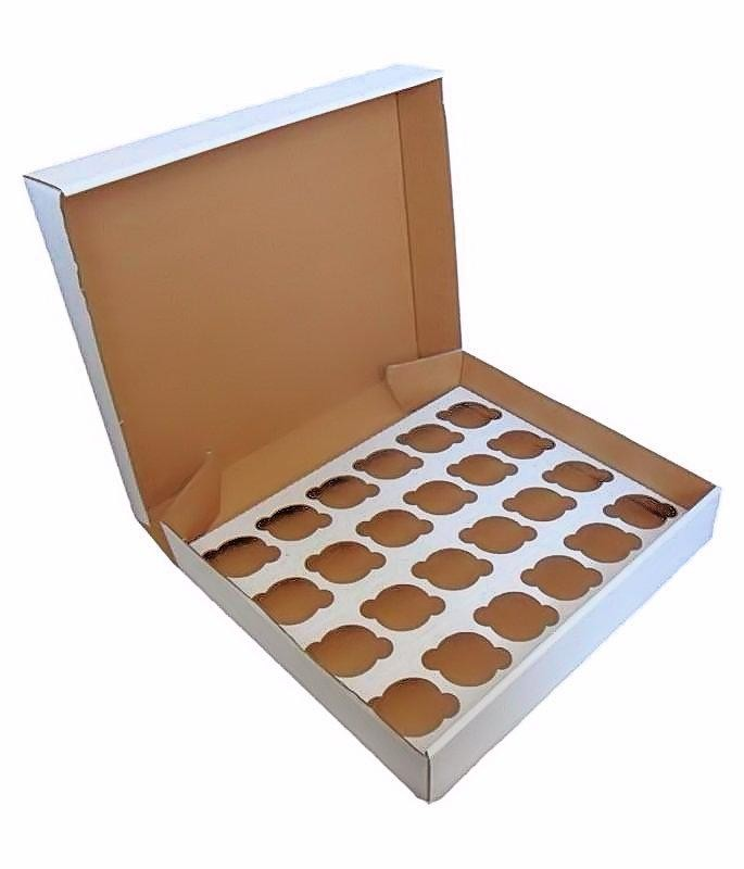 50 Large Corrugated Cupcake Boxes- Holds 24 Cupcakes  (£1.25 each) - cake boxes, cupcake boxes, thecakeboxes
