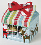 50 Christmas Cupcake Boxes- Holds 4 Cupcake with Inserts - cake boxes, cupcake boxes, thecakeboxes