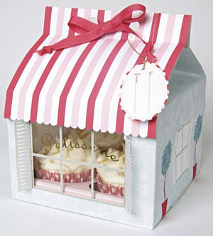 50 Cupcake Boxes for 4 cupcakes- Patisserie Design - thecakeboxes