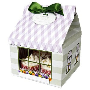 10 Flower Cupcake Box with PVC window - cake boxes, cupcake boxes, thecakeboxes
