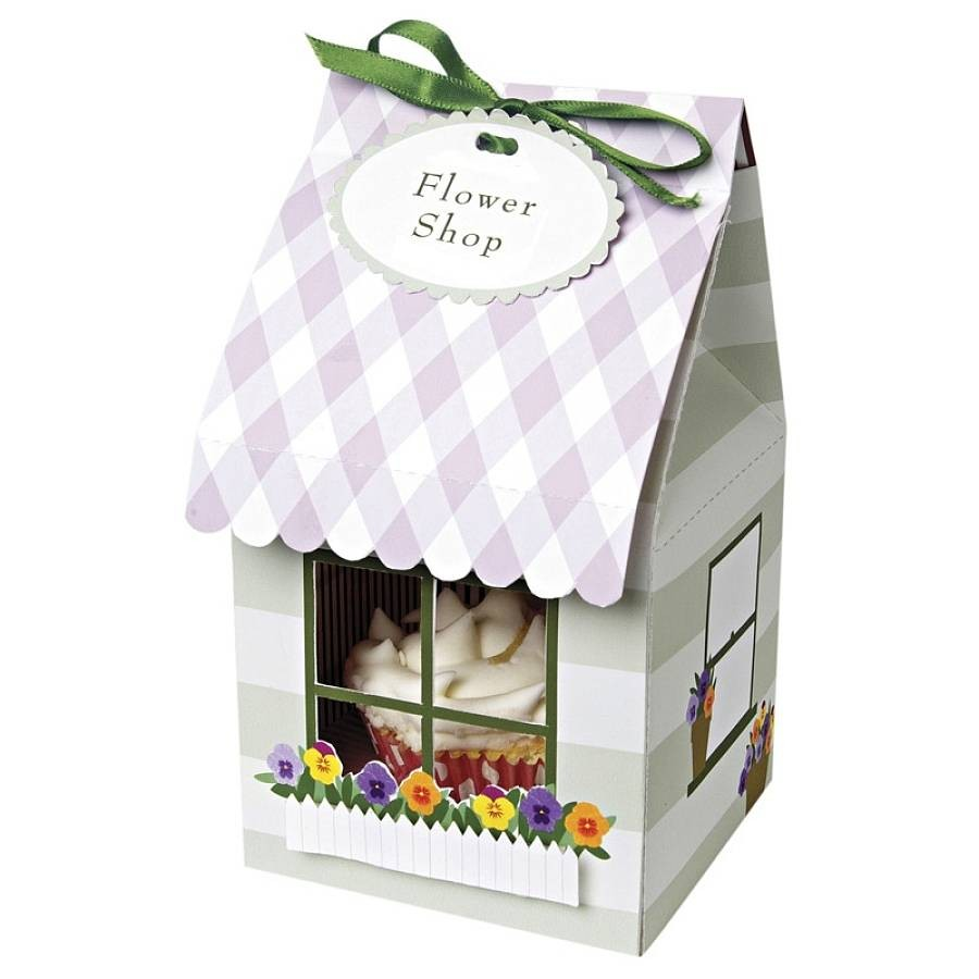Cupcake Box holds 1- Cupcake Design (25 Pack) - cake boxes, cupcake boxes, thecakeboxes