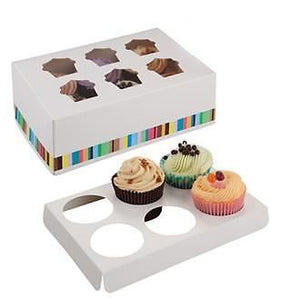 Cupcake Boxes for 12, vibrant colours- Pack of 25 - cake boxes, cupcake boxes, thecakeboxes