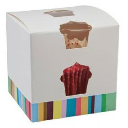 500 Single Cupcake Boxes - Colourful (£0.25 each) - cake boxes, cupcake boxes, thecakeboxes