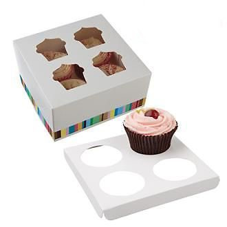 250 Cupcake Boxes for 4 in vibrant colours (£0.64 each) - cake boxes, cupcake boxes, thecakeboxes