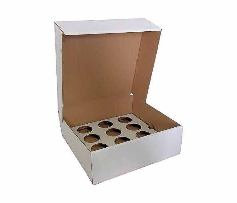 100 Corrugated Cupcake Box for 12 Cupcakes - cake boxes, cupcake boxes, thecakeboxes