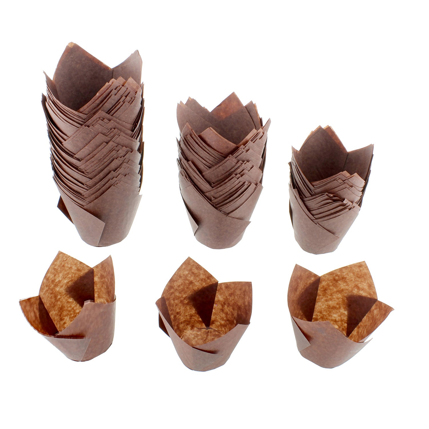 Muffin Brown Tulip Cases- Pack of 1000 - cake boxes, cupcake boxes, thecakeboxes