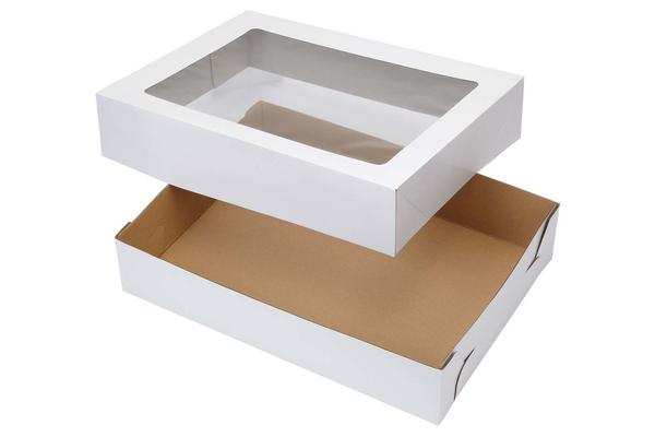 "4"" (Inches) Extra Deep Heavy Duty Cupcake/Pastry Box with Tray & Lid - cake boxes, cupcake boxes, thecakeboxes"