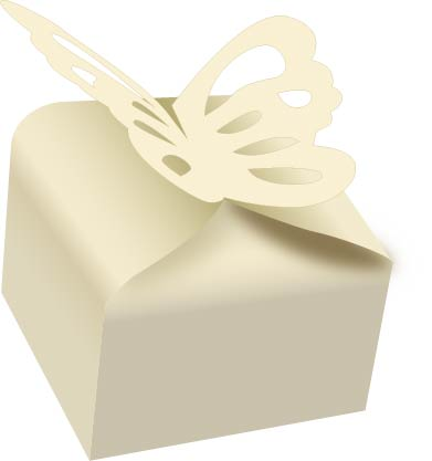 Ivory Butterfly Wedding favour boxes - cake boxes, cupcake boxes, thecakeboxes