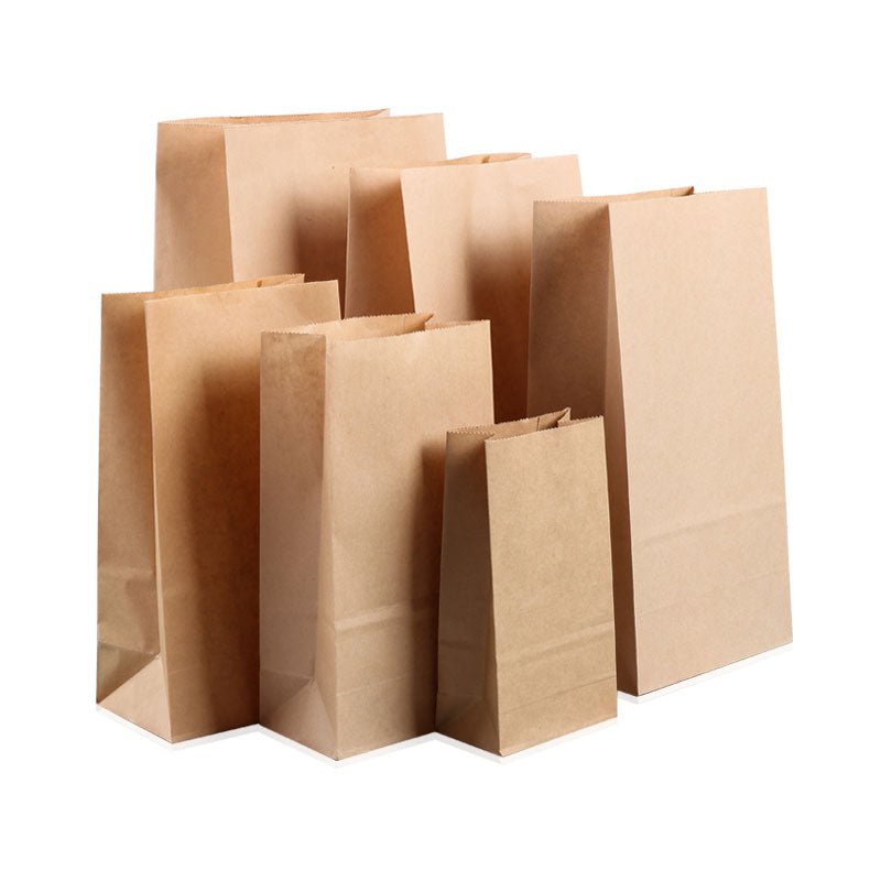 Brown Kraft Paper Bags-Take Away Bags - cake boxes, cupcake boxes, thecakeboxes