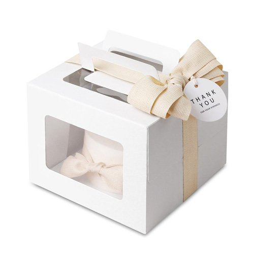 White Small Cake Boxes with Window - cake boxes, cupcake boxes, thecakeboxes