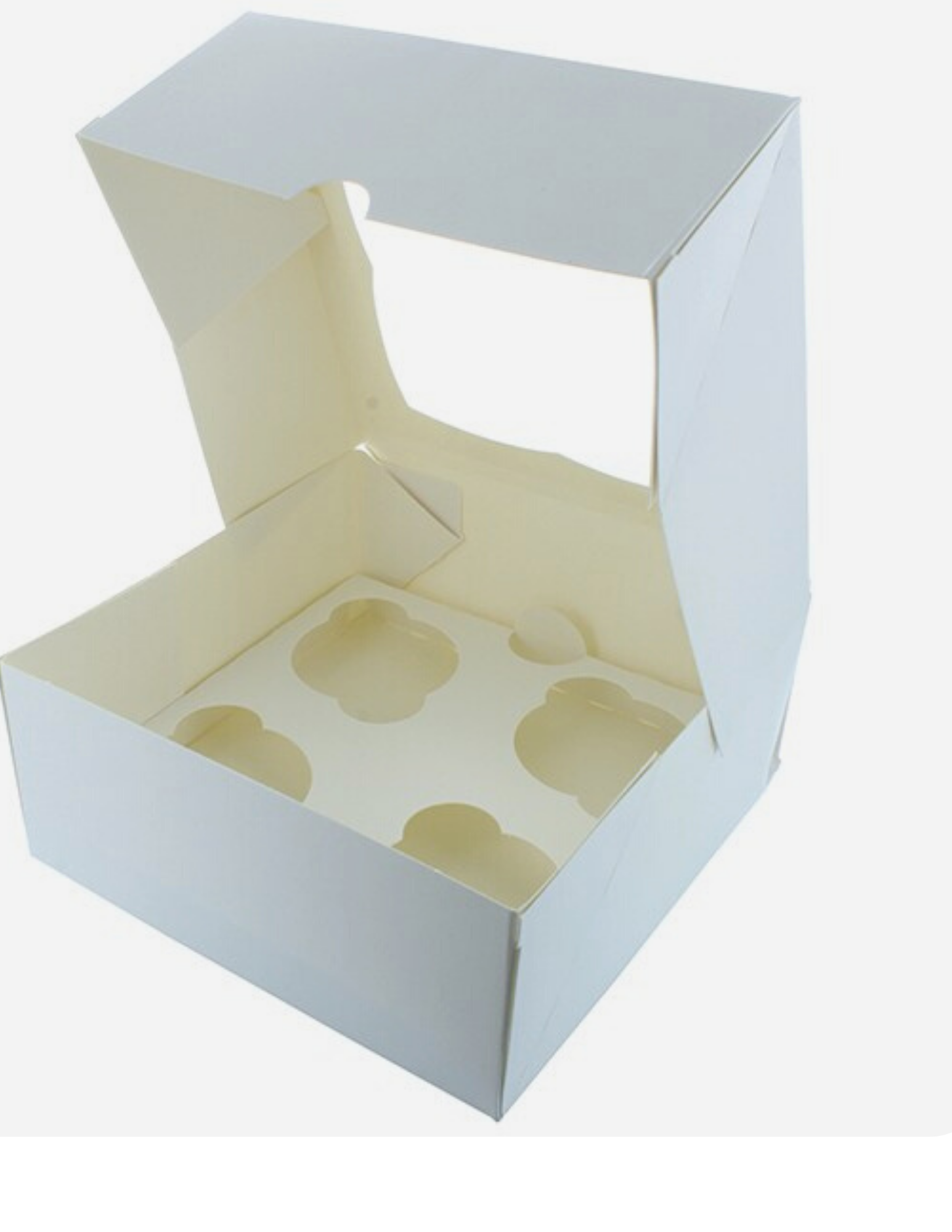 100 Cupcake Boxes 4 holder with Inserts (£0.26 each ) - cake boxes, cupcake boxes, thecakeboxes