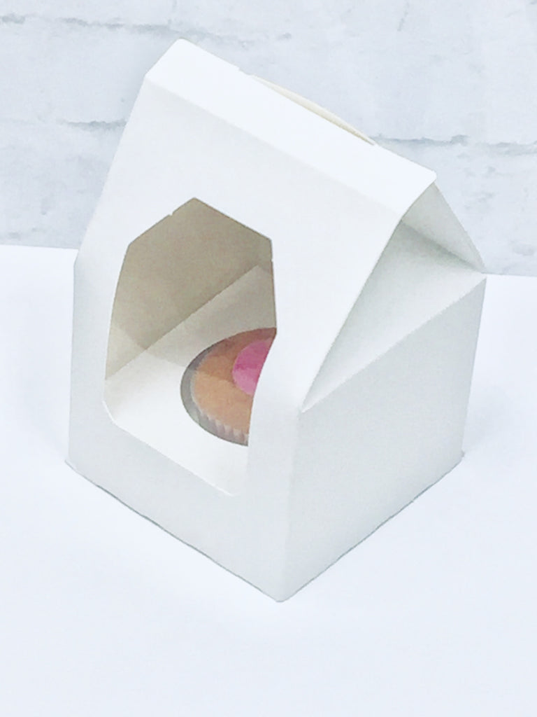 Single Cupcake Boxes  with Window and Inserts - cake boxes, cupcake boxes, thecakeboxes