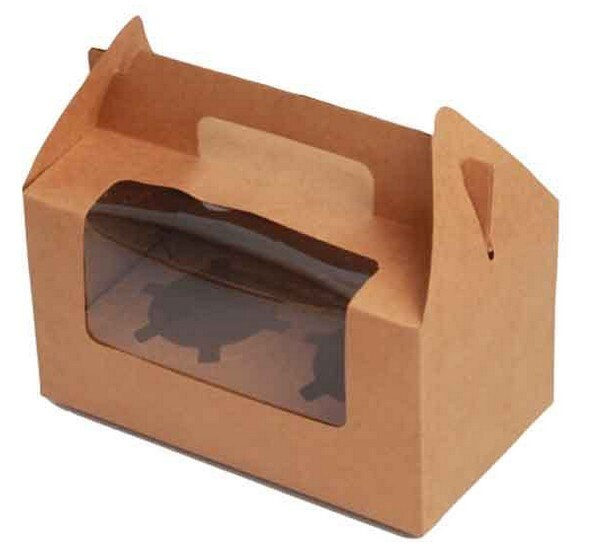 Kraft Paper Double Cupcake Boxes-Pack of 12 - thecakeboxes