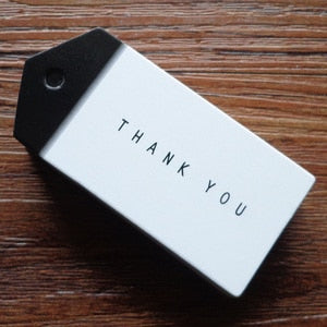 Thank you Handmade Black and White Gift Tags - cake boxes, cupcake boxes, thecakeboxes