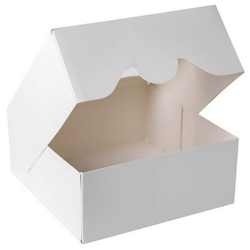 Bakery Cupcake Cookie -Small Cake Boxes with Window 6x6x2.5inch - cake boxes, cupcake boxes, thecakeboxes