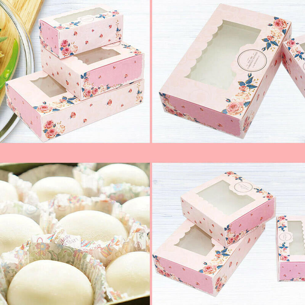 Premium Cupcake Egg Tart Box with Clear Window - cake boxes, cupcake boxes, thecakeboxes