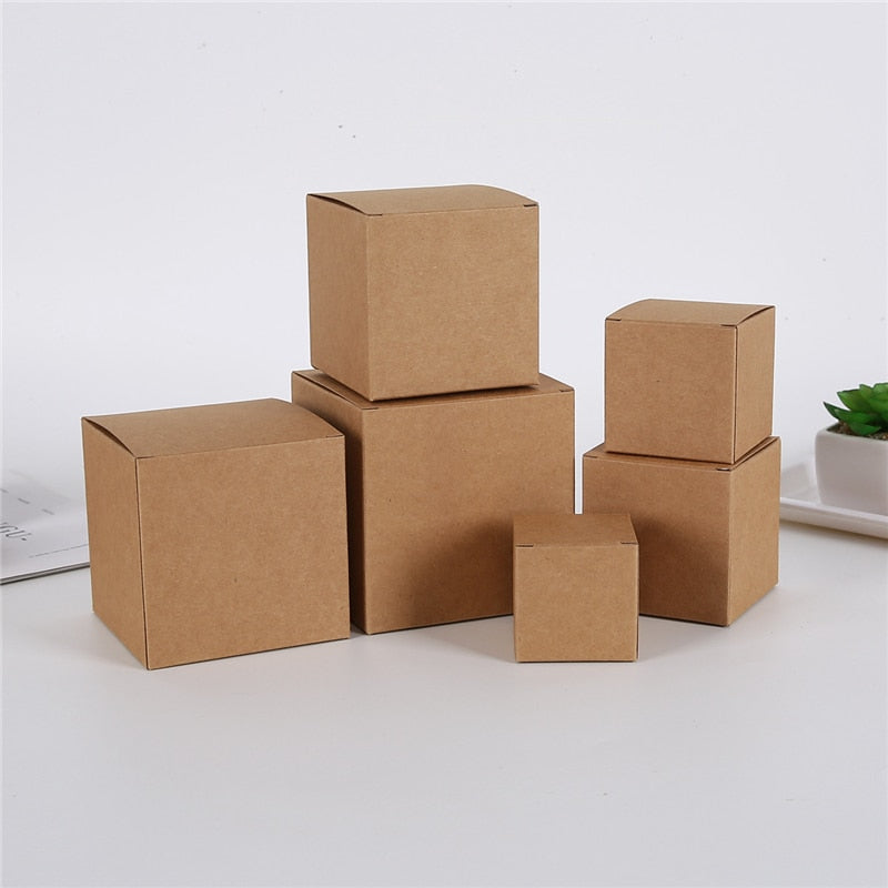 Kraft/White Single Cupcake Boxes - thecakeboxes