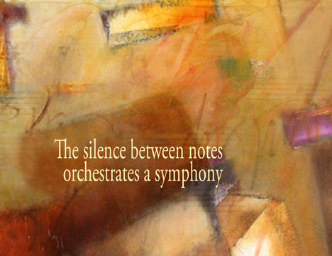 The silence between notes orchestrates a symphony within...