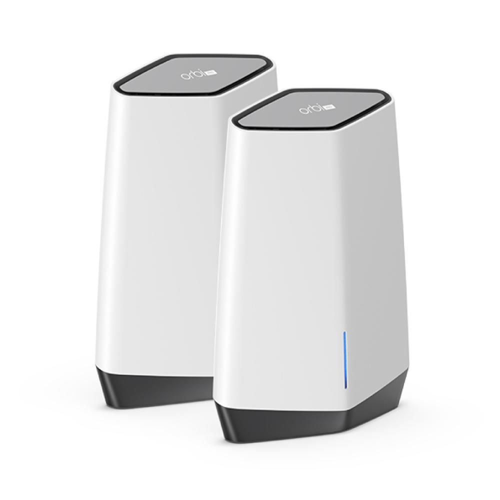 NETGEAR Orbi Pro WiFi 6 AX6000 Tri-Band Mesh WiFi System (SXK80) | 2pcs Pack (1 Router with 1 Satellite) for Business | Up to 60+ Devices