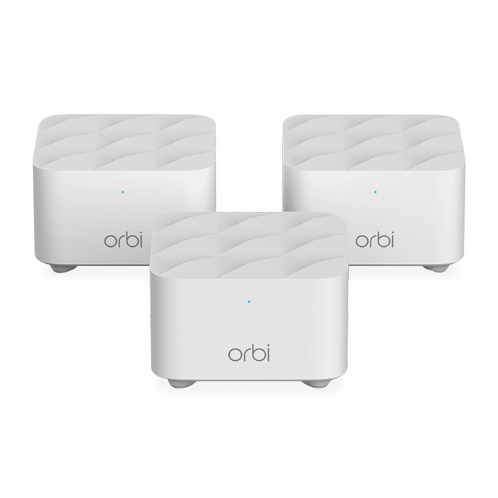 NETGEAR Orbi Whole Home Mesh WiFi System (RBK13) - AC1200 (1 Router + 2 Satellite)