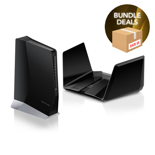 Nighthawk RAX120 and EAX80 WiFi 6 Bundle