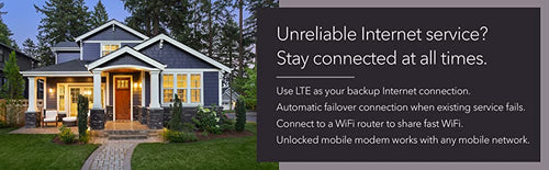 UNRELIABLE INTERNET SERVICE? STAY CONNECTED AT ALL TIMES